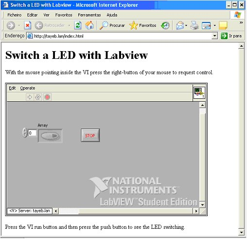 Internet Control of a Labview VI (Part II) | RedAcacia
