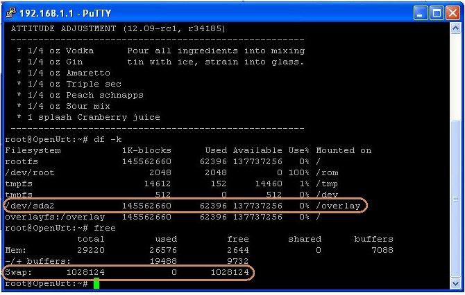OpenWRT – Rootfs & Swap on USB Storage | RedAcacia