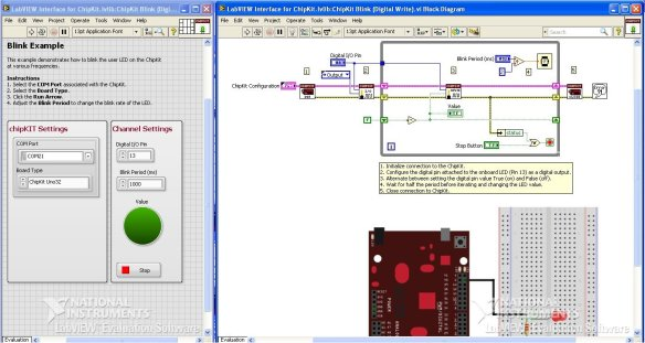 LabVIEW Interface for chipKIT Digilent UNO32 Development