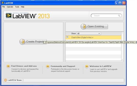 LabVIEW Interface for chipKIT Digilent UNO32 Development