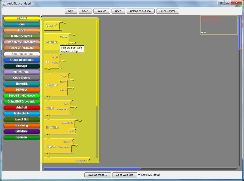 Visual Programming Editor ArduBlock for chipKIT   RedAcacia